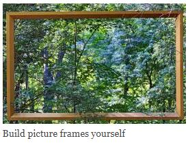 Build picture frames yourself